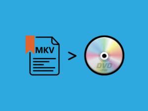 mkvをDVDに書き込む
