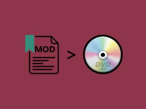MODムービーをDVDに変換して書き込む方法