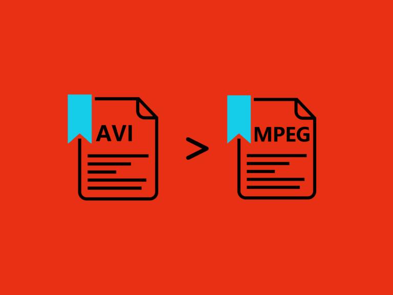AVIをMPEGに変換する