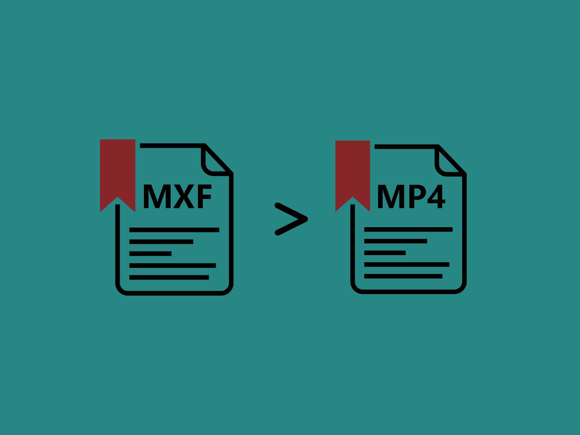 MXFをMP4に変換する