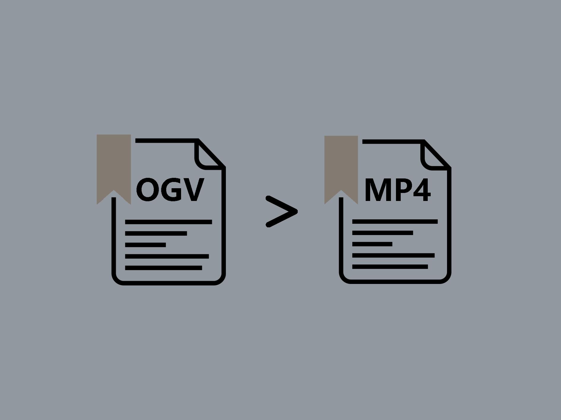 ogvをmp4に変換する