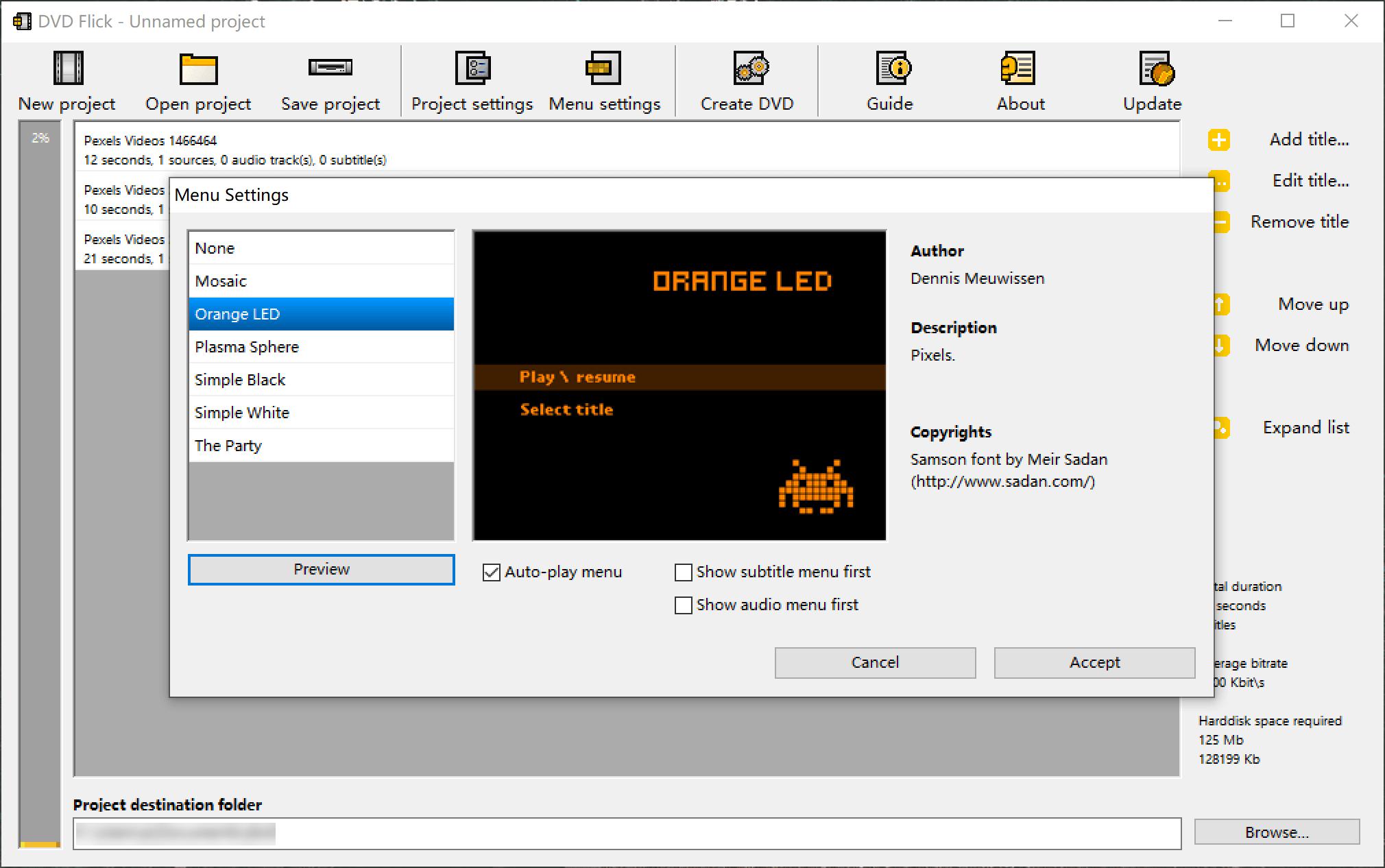 DVD Flickを使ってDVDに変換する